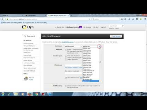 How To Create Dynamic DNS Domain On www dyn com