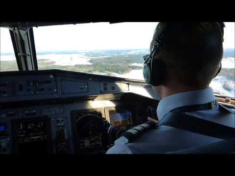 SAS ATR 72-600 WINTER LANDING ARLANDA