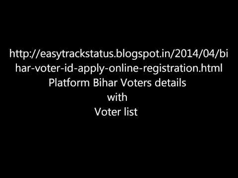 Bihar Voter electoral details and voter id online and polling booth search