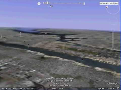 flight 1549 google earth 3D animation, Generalized Flight Path