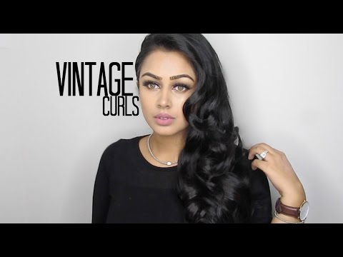 Vintage Curls Hair Tutorial | Kara Makeup