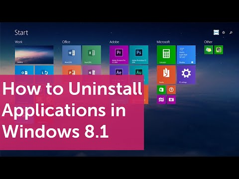 How to Uninstall Applications in Windows 8.1