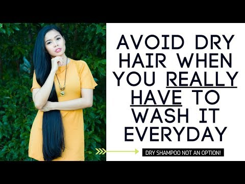 How To Avoid Dry Hair When You HAVE to Wash Your Hair Everyday-Beautyklove