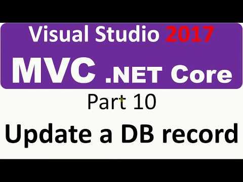 Visual Studio 2017 - MVC Core - Part 10 - update a Database record