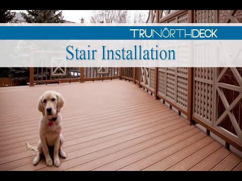 Composite Deck Building   Stair Installation