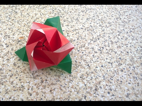 How to Make at Home || Rose Day Special ll ORIGAMI MAGIC ROSE
