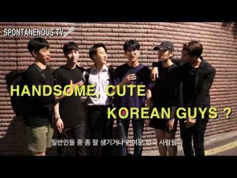 Good looking Korean guys/ Actual Vote on the Street +Spontaneous tv