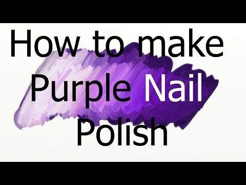 Colour mixing nail polishes - Making purple