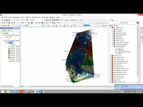 How to create contour in excel data is given in arc gis 10