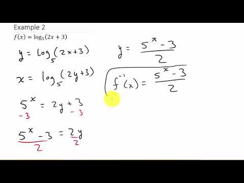 Finding The Inverse of a Logarithmic Function
