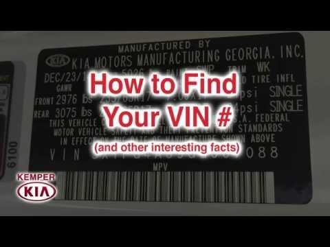 How to find the VIN on your car  (Bridgewater, NJ - 2016 KIA Sorento LX)