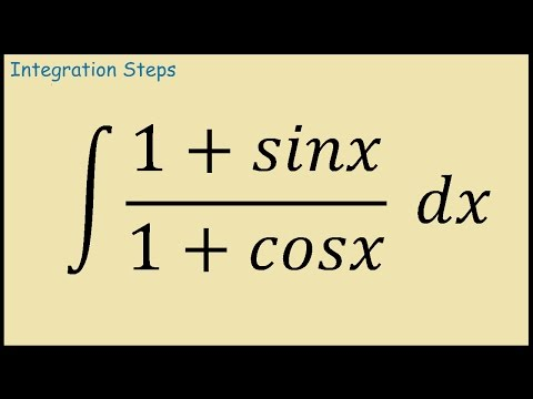 Integral of (1+sinx)/(1+cosx)