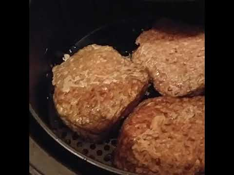 Cooking Angus Bubba Burgers in the Power Air Fryer