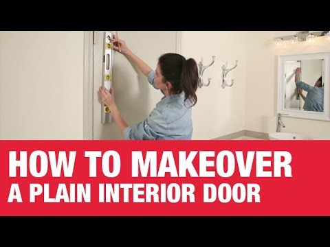 How to Makeover a Plain Interior Door - Clark+Kensington