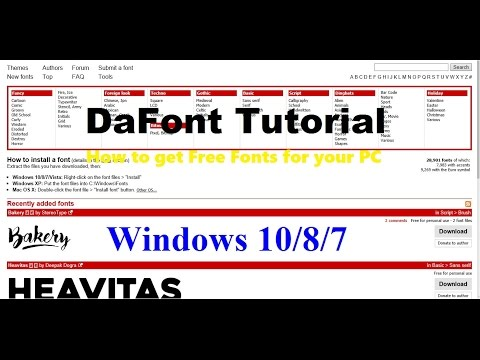 DaFont Tutorial | Windows 10/8/7 | How to get Free Fonts for your PC!!!