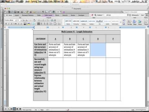 How to write a graded rubric