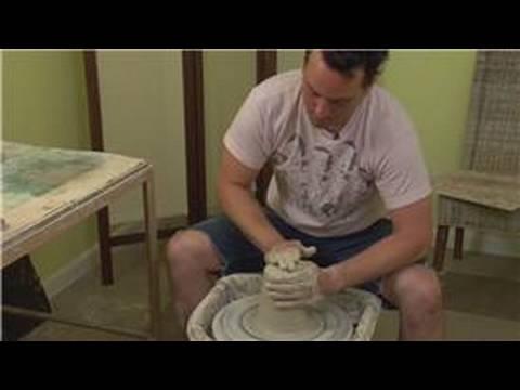 Making a Tall Ceramic Planter : Tall Ceramic Planter Wedge & Center