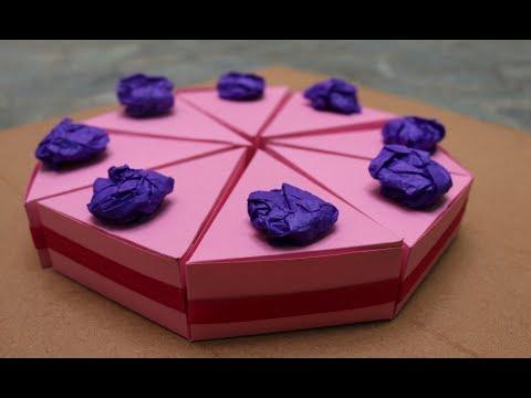 BIRTHDAY CAKE GIFT BOX WITHOUT PRINTABLE