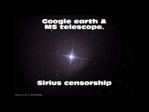 Why Sirius A is censored / masked in Google Earth Sky View?!