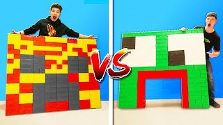 PRESTON vs UNSPEAKABLE LEGO HOUSE BATTLE!