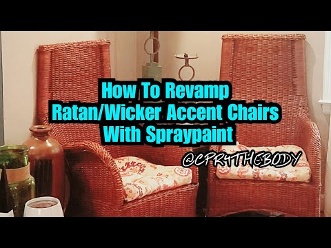 How To Revamp Wicker Chairs With Rustoleum Spray Paint