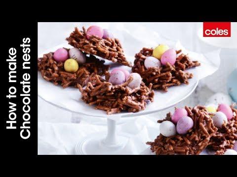 How to make chocolate nests