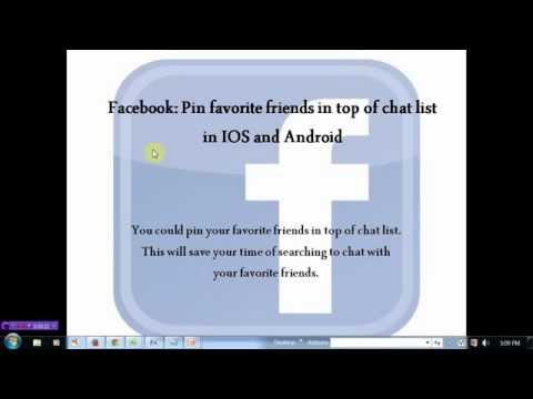 Add favorite friends in top of facebook chat list