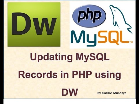 How to Update Records in MySQL Using PHP, Dreamweaver