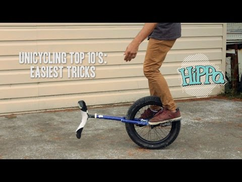 Unicycle Top 10's - Easiest Tricks