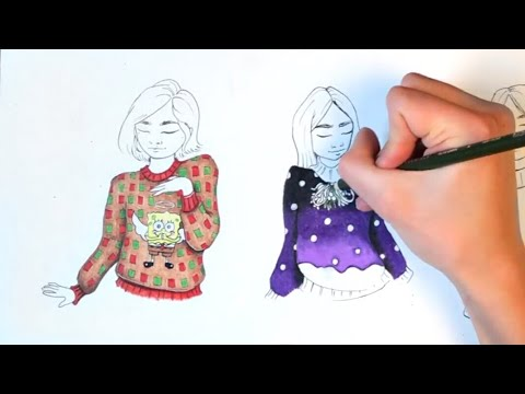 The Ugly Christmas Sweater Drawing CHALLENGE