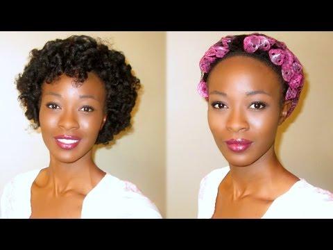 Heatless Curls With Spoolies Hair Curlers 4c Natural Hair