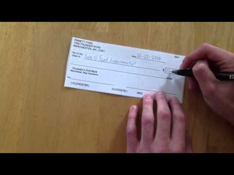 How to Write a Check