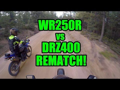 WR250R vs DRZ400 Drag Race Rematch! Yamaha Redemption?