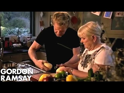Gordon and His Mum Make Roast Potatoes - Gordon Ramsay