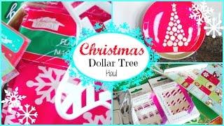 CHRISTMAS Dollar Tree HAUL! 2015