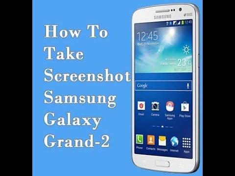 Samsung | Galaxy Grand 2 | Quick Screen Shot Trick |