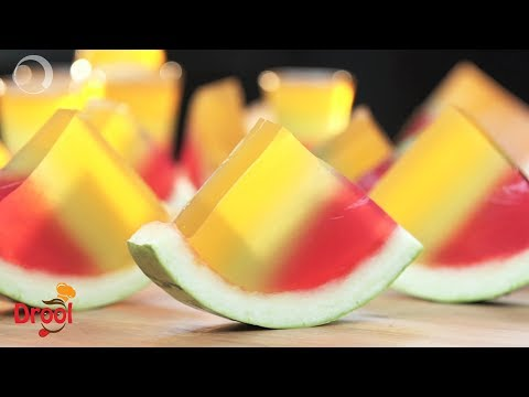 Watermelon Rainbow Jelly | वाटर मेलन रेनबो जेली | Cool Jelly Shots
