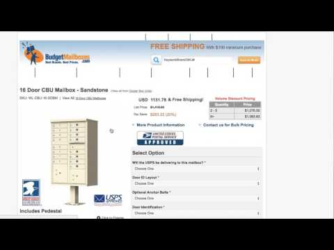 How to Find an SKU Number on BudgetMailboxes.com?