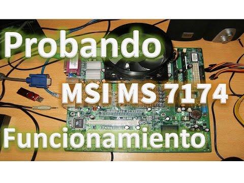Motherboard MSI Ms 7174 Desktop HP Pavilion Media Center TM7240LA CPU P4 519K Ram 4GB DDR2 677mhz