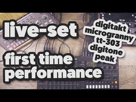 LIVE JAM SESSION: Digitakt, Digitone, Microgranny, tt-303, peak (FIRST TIME)