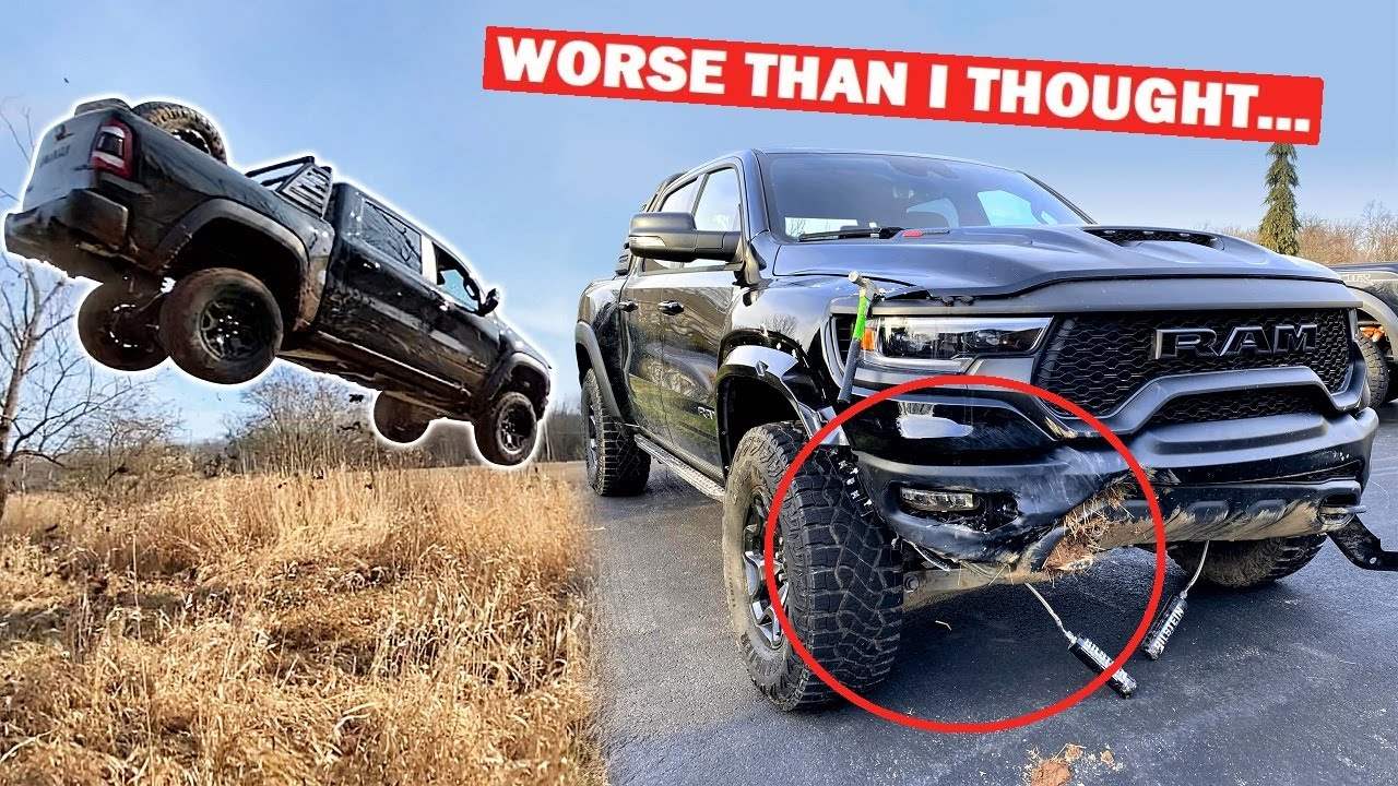 FULL DAMAGE REPORT After MASSIVE RAM TRX JUMP... *$93,000 TRUCK TOTALED*