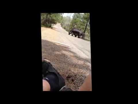 Mtb crash, road rash