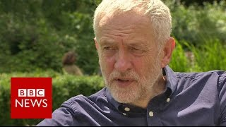 A walk in the park with Jeremy Corbyn - BBC News