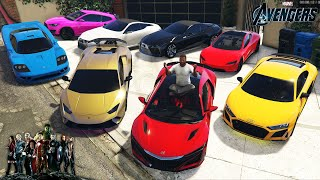 GTA 5 - Stealing AVENGERS Movie Vehicles with Franklin! (Real Life Cars #106)