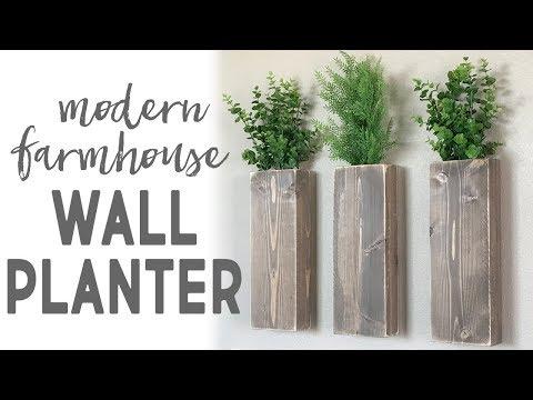 DIY Modern Farmhouse Wall Planter