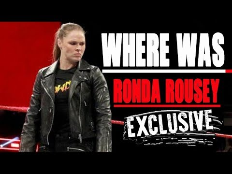 Ronda Rousey Update Why She Didn't Appear On WWE Monday Night Raw As Advertised
