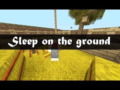 Minecraft - Sleep on the ground