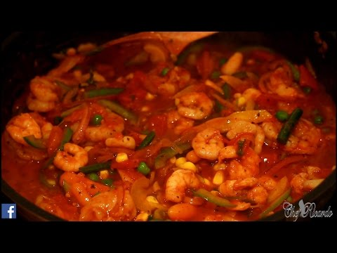 Shrimps And King Prawn In Tomato Sauce (Jamaican Chef) | Recipes By Chef Ricardo