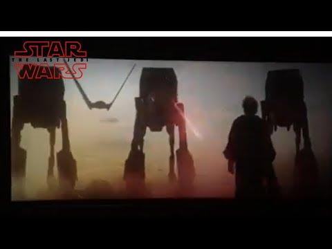 Luke Skywalker Hollogram vs ATAT - Last Jedi Scene