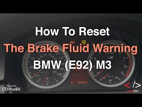 How To Reset The Brake Fluid Warning on the BMW (E92) M3